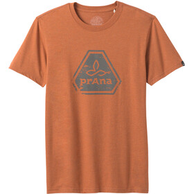 Prana Icon SS T-Shirt Men russet heather